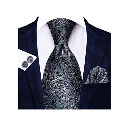 WYBFZTT-188 Hombres Seda Ascot Set Set Hombres Boda Party Cravat Lazos Pañuelo Pañuelo Pantalones Necktie Anillo Conjuntos (Size : A)