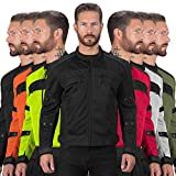 Motorcycle Jackets for Men Viking Cycle Ironside Men's Mesh Motorcycle Jacket (Small, Black)
