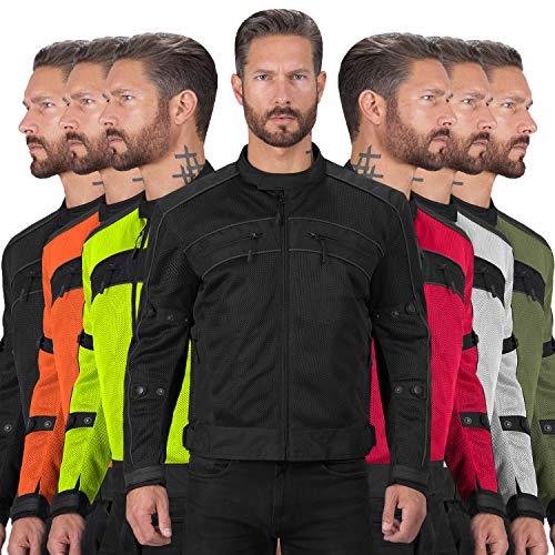 Motorcycle Jackets for Men Viking Cycle Ironside Men's Mesh Motorcycle Jacket (Black, Large)