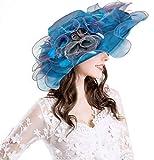 Battercake Berretti da Baseball Cappellini Misteriosi per Abito da Cerimonia da tè Inglese Accogliente da Donna in Organza da Donna (Color : Blu, Size : One Size)
