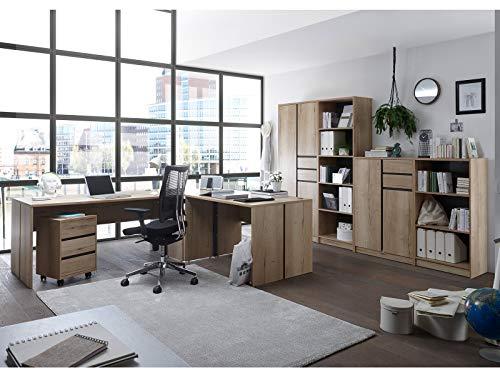 möbelando Büro-Set Büroeinrichtung Büroprogramm Büromöbel Büro Fiona I (6-teilig)
