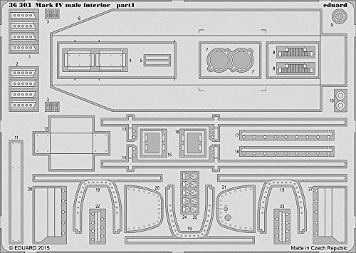 Eduard Photoetch 1:35 - Mark IV Male Interior (TAM30057)
