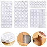 Soneer Clear Rubber Feet Bumper Pads,160 Pieces Buffer Pads Adhesive Rubber Feet, 4 Size Cabinet for for Door, Drawers,Notebook, Glass Non Slip