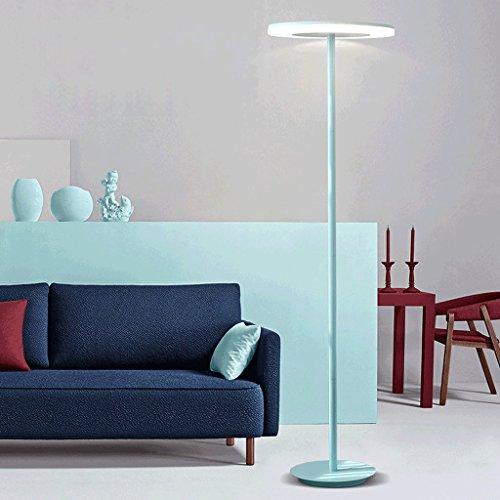 Ywyun Lampe de table/lampe de plancher de salon d'étude nordique de salon, lampe de bureau/lampe de plancher économiseuse d'énergie de LED verticale moderne simple de bureau (Color : Blue-Floor lamp)