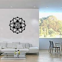 Kids Muur Indian Boeddhistische Art Deco Muursticker Sticker Mandala Woonkamer Slaapkamer Home Muurschildering Bruin