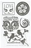 MSE Y579 Twin Birds My Sentiments Exactly Stamps Sheet, 4' by 6', Clear