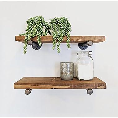 Industrial Floating Shelf (10  Deep), Floating Shelf, Floating Shelves, Rustic floating shelves, Rustic Shelf, Industrial floating shelves, Pipe Shelf, Pipe Floating Shelves, Pipe floating shelf