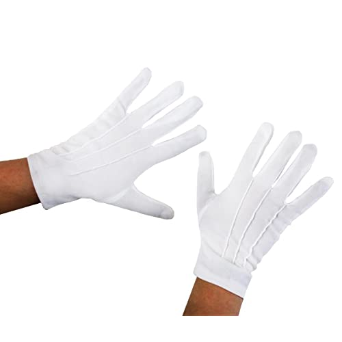 CHILDS WHITE GLOVES FANCY DRESS WITH 3 SEWN IN LINES BY ILOVEFANCYDRESS®  COSTUME IDEAL FOR 70d38e9b706d