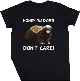 Honey Badger Don't Care Niño Niña Unisexo Negro Camiseta Manga Corta Kids Black T-Shirt