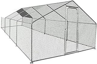 IDMarket - Enclos poulailler 24M² Parc grillagé 8X3M Acier galvanisé