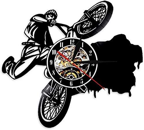 Vinyl Record Wandklok Modern Design Cyclus Sport Thema Hangend Horloge Vinyl Wandklokken Home Decor Cadeaus voor Rider-4
