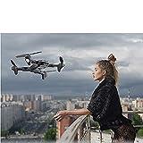 GAOFQDrone Quadcopter UAV con cámara de 48Mp 4000W Video cardán de 3 Ejes Tiempo de Vuelo de 15 Minutos,función de Sensor de Gravedad, despegue/Aterrizaje con una tecla, Negro 4000W