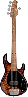 Sterling By MusicMan 5 String Bass Guitar, Right, Quilted Maple, Island Burst (RAY35QM-ILB-M2)