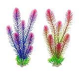 Aquarium-Pflanzen, künstliche grüne Kunststoffpflanzen für Dekoration, Gras, Wasserpflanzen für...