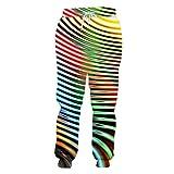 Herren Damen Color Ripple 3D-Druck Sportswear Hip Hop Sweatshirt und Hosen Hoodies 2 Set Color...
