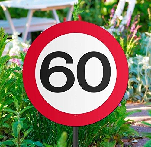 Folat Gartenschild für Geburtstagsparty, Verkehrsschild, 60. Geburtstag