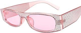 DovSnnx - DovSnnx Gafas De Sol Unisex para Hombres Y Mujers Polarizadas Protección 100% Uv400 Clásico Vintage Moda Sunglasses Lente De Polvo De Marco De Polvo De Diamante De Imitación