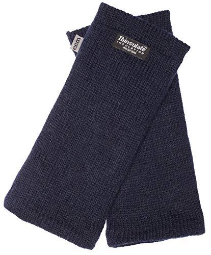 EEM Damen Strick Wollstulpe Pulswärmer MAYA mit Thinsulate Thermofutter aus Polyester, Strickmaterial aus 100% Wolle; Marine Onesize