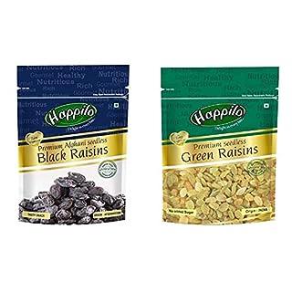 HappiloPremium Afghani Seedless Black Raisins