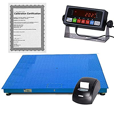 Prime Scales 10000x1lb 48x48 Floor Scale/Pallet Scale with Premium Indicator+Printer+Calibration Certification