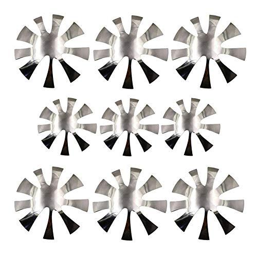French Manicure Schablone Halbmond,Nagelschneider Platte French Manicure Nail Art Making Herstellung von Edelstahl Acryl,FranzöSische Nagelkunst-ManiküRe,Nagelkunst-Design Modell (9Stick)