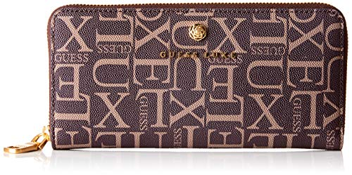 Guess dames portemonnee Sophie Large Zip Around, blauw (Brown Multi), 20,5 x 10 x 2 cm (B x H x L)