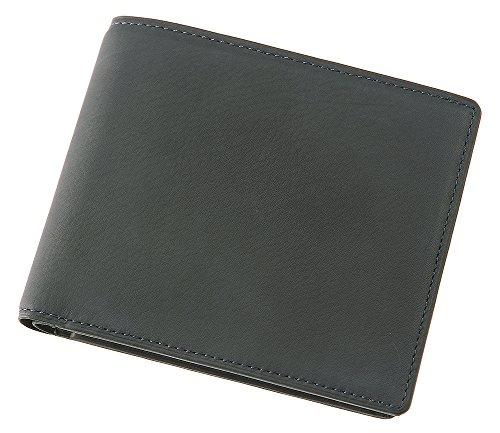 【キプリス】二つ折り財布(小銭付札入)■レーニアカーフ 1112 (ネイビー)