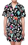 ugoccam Women Girl Mall Eleven Cosplay Costume Short Sleeve Romper Dress Ouifit Girls 150(7-8T)