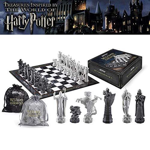 Harry Potter Wizard Chess Chess Genuine Chess Ha Fan Regalo Colección Spot Ron Sorcerer's Stone Cumpleaños Año Nuevo Regalo Ajedrez