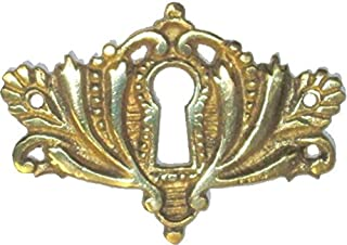 Cast Brass Victorian Style Keyhole Cover for Cabinet Doors, Dresser Drawers, Desk Antique Furniture Hardware | B-0258
