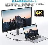 USB Type c アダプタ マルチポート Tuwejia タイプc ハブ 4K 解像度 hdmiポート+USB 3.0 データ転送ポート+USB 2.0ポート+USBタイプC急速PD充電ポート 4-in-1 変換 アダプター MacBook Pro/MacBook Air 13インチ 2020/iPad Pro 2020, Samsung Galaxy S20 など USB C デバイス対応(スペースグレイ)