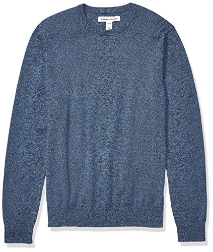 Amazon Essentials Men's Crewneck Sweater, -Navy Space-Dye, Medium