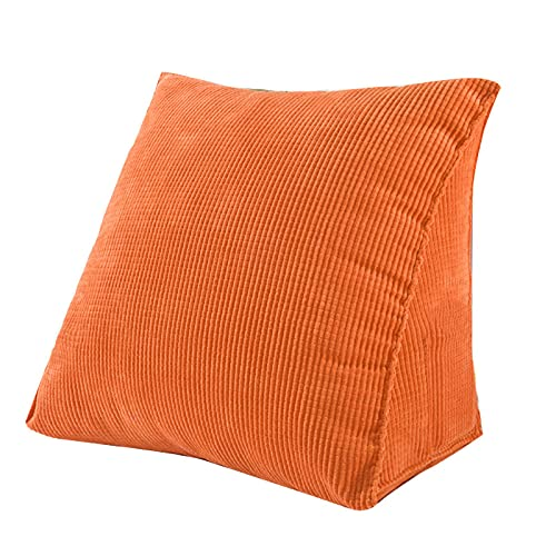 SANJIANG Almohada Triangular,Almohada con Espalda De Cuña,Almohada Ajustable con Soporte para El Cuello, Oficina, Sofá, Cama, Almohada De Descanso,Orange