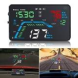 Car HUD GPS, HD 5.5 '' Multi Color Automobile Head Up Display Pare-Brise Projecteur, Indicateurs de Vitesse,...
