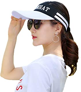 Sports Sun Visor Hats for Women and Men Large Brim Sun UV Protection Hat, Adjustable Breathable Summer Beach Cap, for Outdoor Golf Tennis Running Hiking