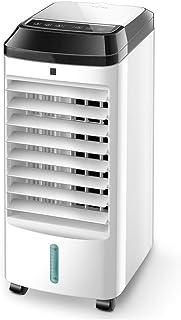 Aire Acondicionado Portátil con Control Remoto y Pantalla LED Enfriador de Aire Evaporativo, 3 Velocidades y 3 Modos, Tanque de Agua de 4 Litros, Control Remoto y Temporizador de 12 Horas, 65W, Blan
