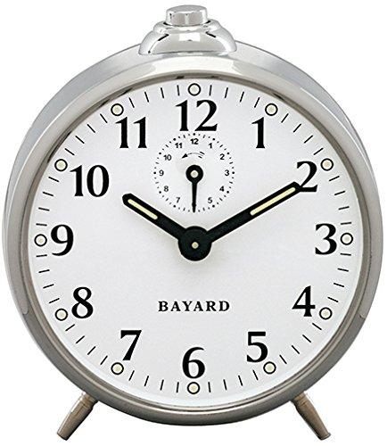 Bayard Reloj Despertador mecánico Antracita Cromado 10.00x 10.00cm