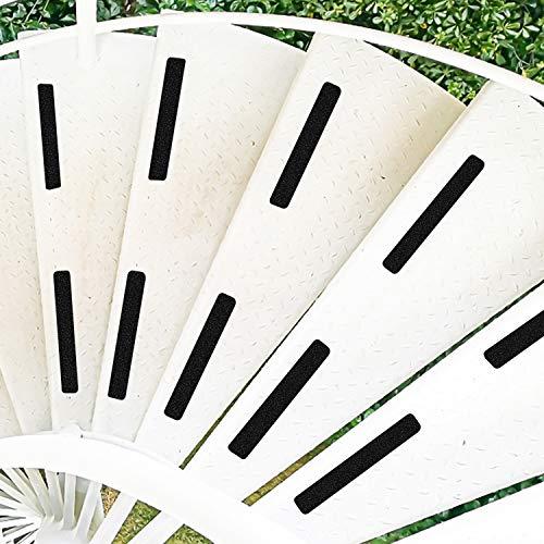 DanceWhale 5cm x 30cm, Confezione da 10 Scale con Nastri Antiscivolo Nastri autoadesivi Antiscivolo Tappetini Antiscivolo per Scale Interne ed Esterne