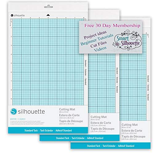 Silhouette America CUT-MAT-8-3T Portrait 2 Cut Mat (3 Pack), with 30 Day Smart Silhouette Membership