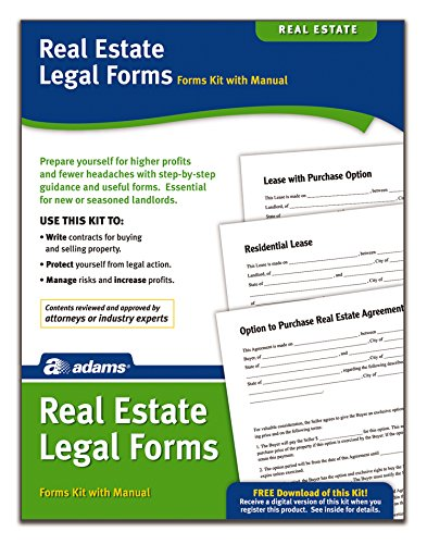 Adams Real Estate Legal Forms Kit, Forms and Instructions (PK418)