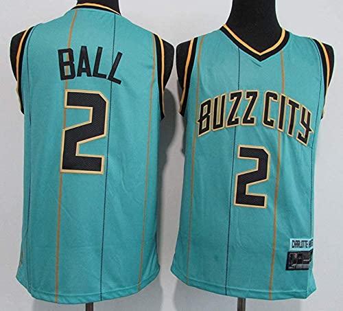 wsetrtg Camiseta para Hombre NBA Charlotte Hornets # 2 Lamelo Ball Ropa de Entrenamiento de Baloncesto Deportes y Ocio Chaleco sin Mangas Transpirable de Secado rápido 2 S