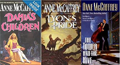 Lot of 3 Anne McCaffrey Books Damia's Children, Lyon's Pride, Tower and Hive Paperback Novel Series