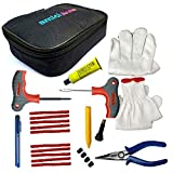 1. Multifunctional : - All in one kit is perfect to repair puncture for bikes, cars, vans, etc. Premium quality products that serve long life. 2. Everything in the bag: - Bag contains everything that is required to repair puncture. From strip cutter ...