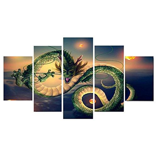Anyutai Dragon Ball Arte Lienzo Pinturas Al Óleo Cuadro En El Hogar Sala De Estar Decoración De La Pared Ilustraciones- 20 * 35 * 2 + 20 * 45 * 2 + 20 * 55 * 1