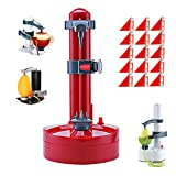 Electric Potato Peeler Rotato Express2.0 + 15 Replacement Blades?Automatic Rotating Fruits Fruit Potato Peeler Vegetables Cutter Apple Paring Machine Kitchen Peeling Tool (Red)