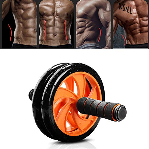 HUIGE Ab Roller Wheel Gym Ab Roller Gym Equipment Body Strong for The Best Core Workout with Knee Pad at Home Abdominal Fitness Wheel Ab Workout Equipment