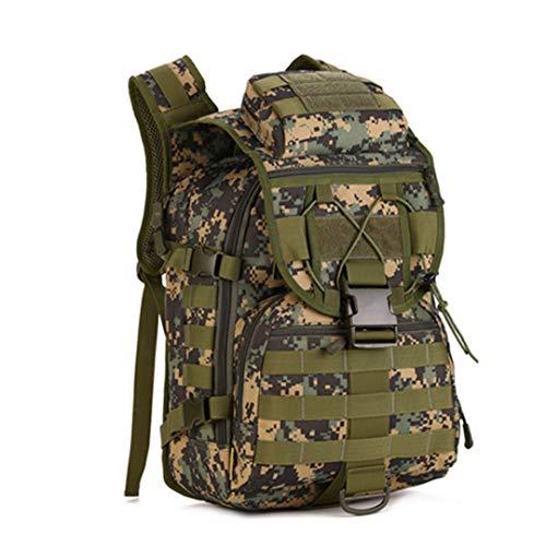 Motorhelay Sac à Dos 40L Tactique Militaire Nylon imperméable Sports Plein air Camping Randonnée Pêche Chasse Sac Jungle Digital 30-40L