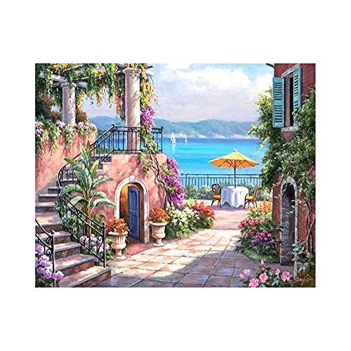 wcyljrb Kit De Pintura Digital De Bricolaje Mesa Blanca Adult Digital Painting Suite Niños Artista Decoración del Hogar 16 X 20 Pulgadas (Sin Marco)