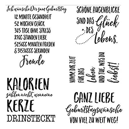 Deutscher transparenter klarer Silikonstempel//Siegel f/ür DIY Scrapbooking//Fotoalbum Dekorative klare Stempelbl/ätter A1024