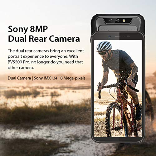 Blackview A30【Face ID 19:9 Screen】Unlocked Smartphone 5.5 Inch Android 8.1 MTK6580A Quad core Dual Rear Cameras Bluetooth V4.2 Dual SIM,Dual Standby SIM Free 3G Mobile Phone(2GB/16GB)-Black